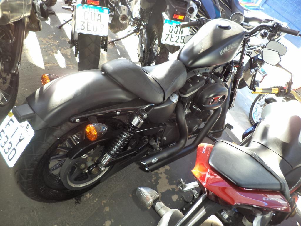 Harley Davidson Sportster Xl 883 Custom Preto 2013 Two Brothers Motos Auto Mogi