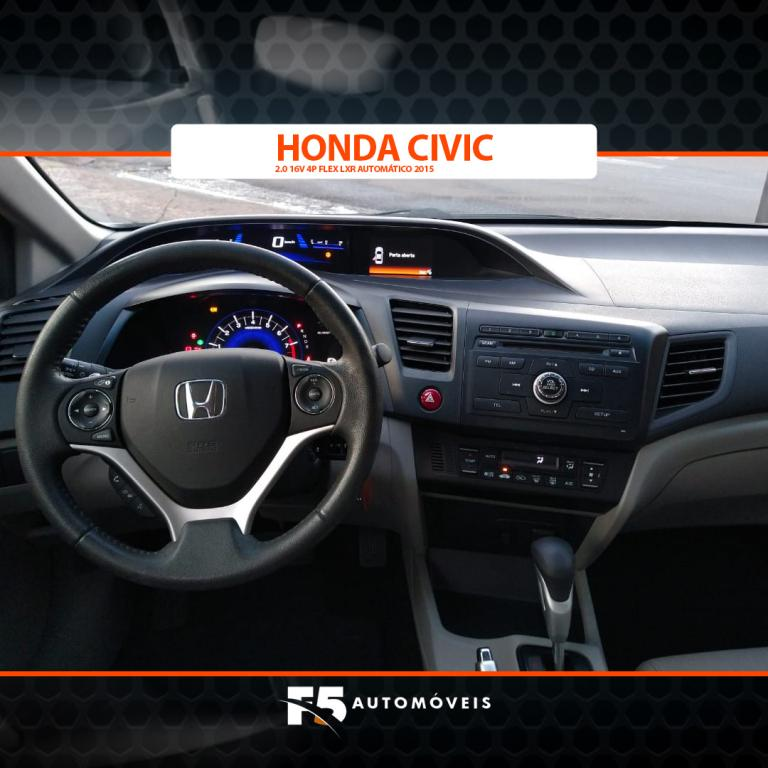 HONDA Civic 2.0 16V 4P FLEX LXR AUTOMÁTICO, Foto 9