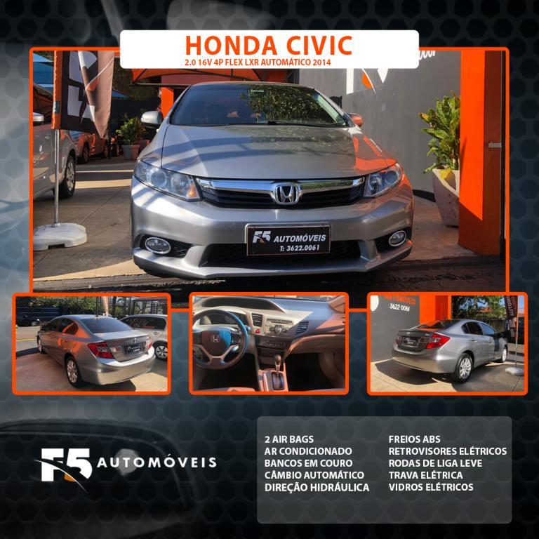 HONDA Civic 2.0 16V 4P FLEX LXR AUTOMÁTICO, Foto 1