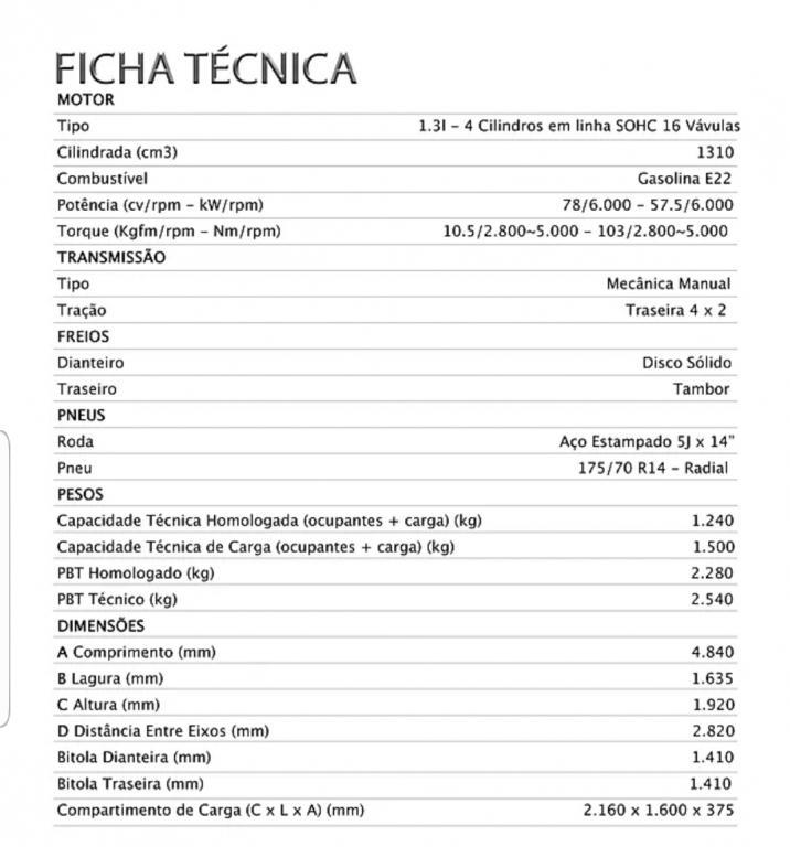 EFFA MOTORS V22 Cabine Dupla 1.3 4P, Foto 7